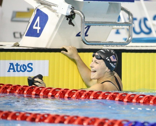 Caitlin Leverenz wins the 200m IM - Toronto 2015