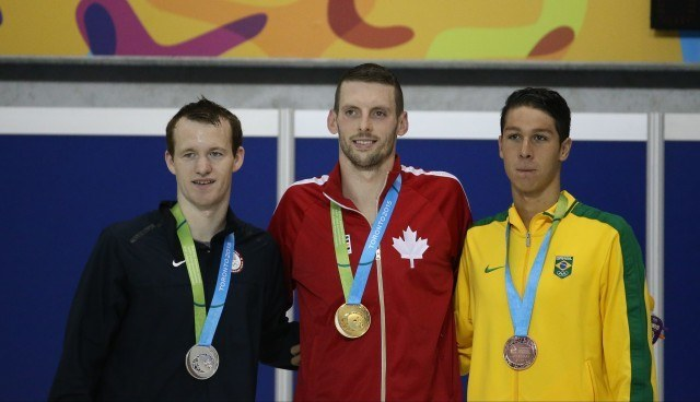 Ryan Cochrane wins the 1500m freestyle - Toronto 2015