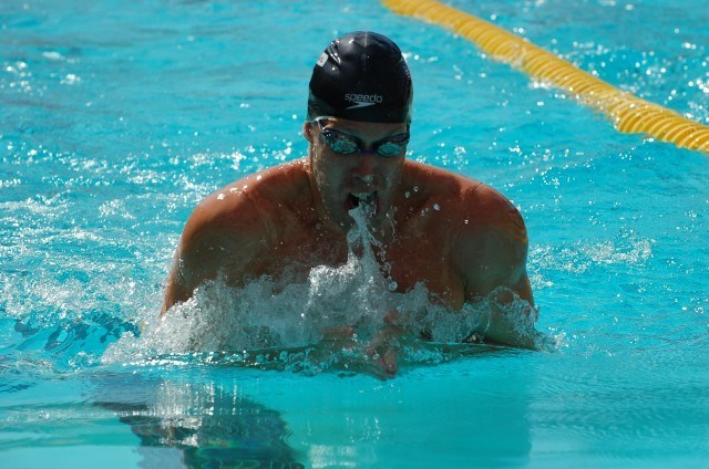 Brendan McHugh of Greater Philadelphia Aquatic Club in 200 breast prelims. Photo: Anne Lepesant