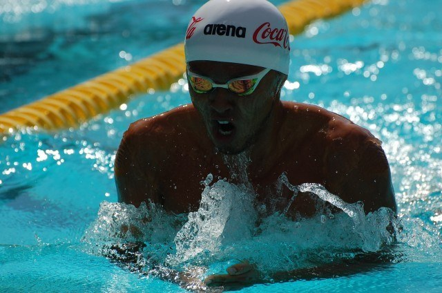Kosuke Kitajima in 200 breast prelims. Photo: Anne Lepesant