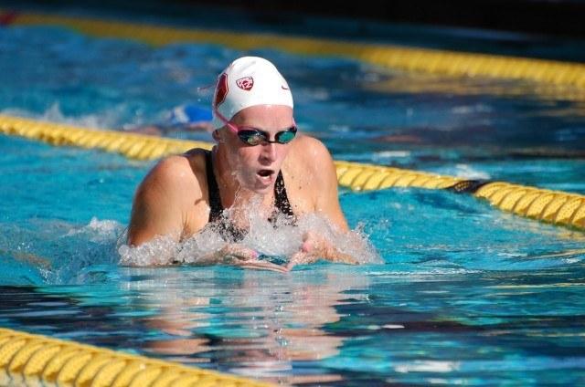 Ally Howe of Stanford Aquatics. Photo: Anne Lepesant