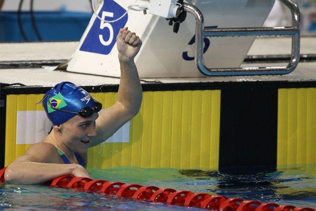 Manuella Lyrio Breaks South American Record in 200 Free