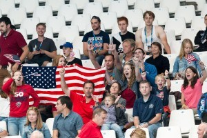 U.S.A. water polo fans were on hand for the preliminary game between USA and Italy at the 2015 FINA World Championships.