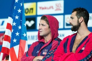 U.S.A Men's water polo captain Tony Azevedo before the start of the match with Italy in the preliminary round of the 2015 FINA World Championships in Kazan, Russia.