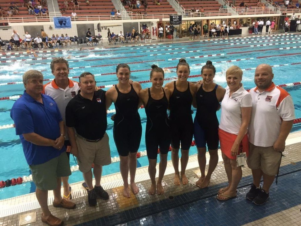 SwimMAC Carolina Sets NAG Record in 4×100 Meter Free Relay