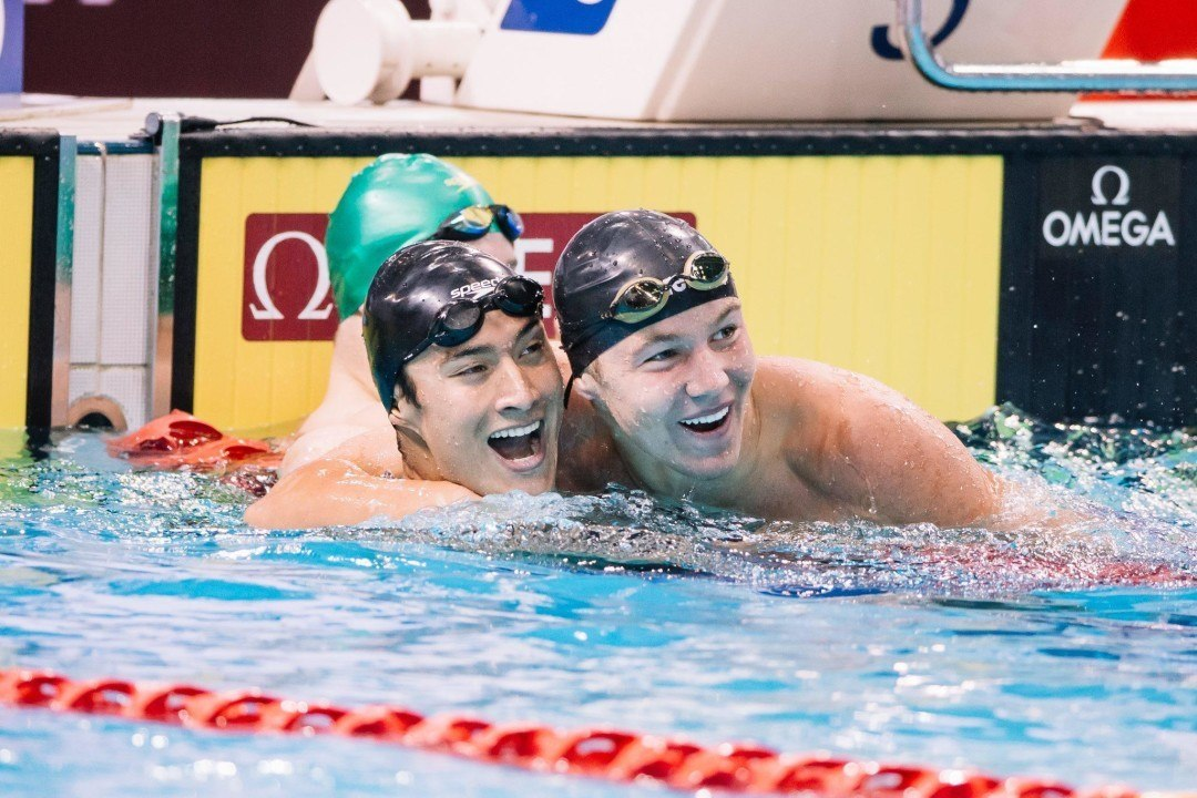 Rooney's 1:46.5 Split Leads Team USA To JR World Record In 4×200 Free Relay