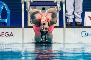 Missy Franklin in the semi finals of the 200 backstroke at the 2015 FINA world championships Kazan Russia (photo: Mike Lewis, Ola Vista Photography)