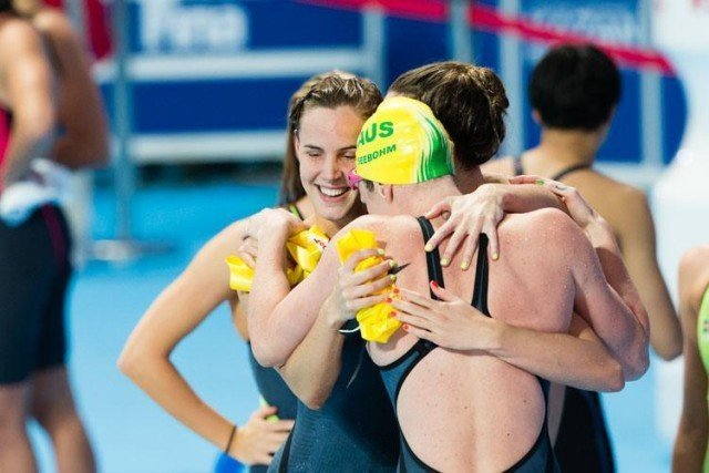 400 free relay, Australia, 2015 World Championships  (courtesy of Tim Binning, theswimpictures.com)