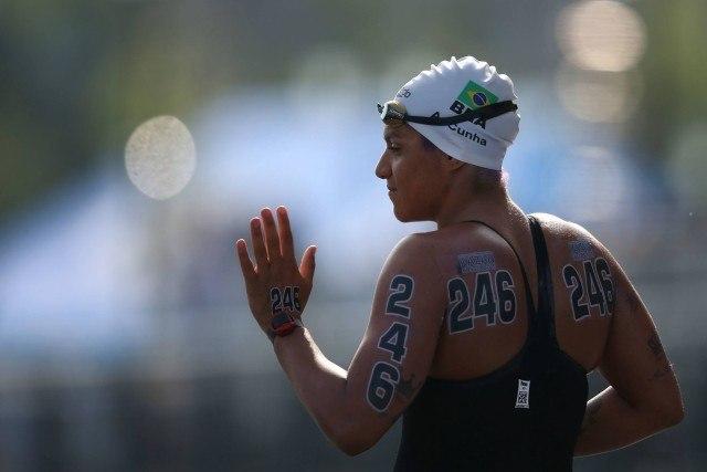 Ana Marcela. Campeonato Mundial de Desportos Aquaticos, prova dos 25Km, realizada no Rio Kazanka. 01 de agosto de 2015, Kazan, Russia. Foto: Satiro Sodre/SSPress