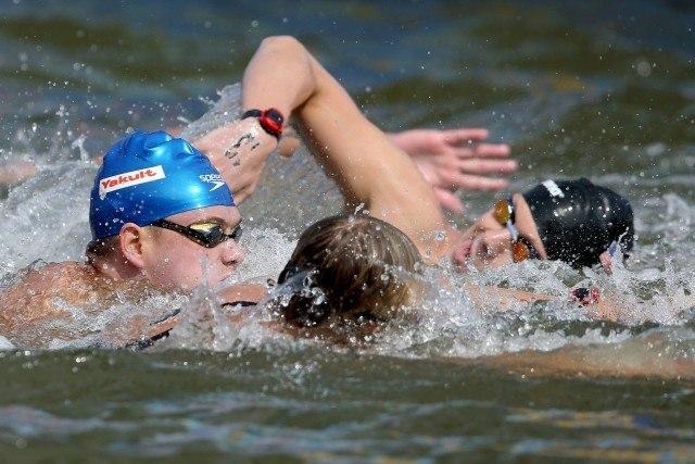 Diogo Villarinho. Campeonato Mundial de Desportos Aquaticos, prova dos 25Km, realizada no Rio Kazanka. 01 de agosto de 2015, Kazan, Russia. Foto: Satiro Sodre/SSPress
