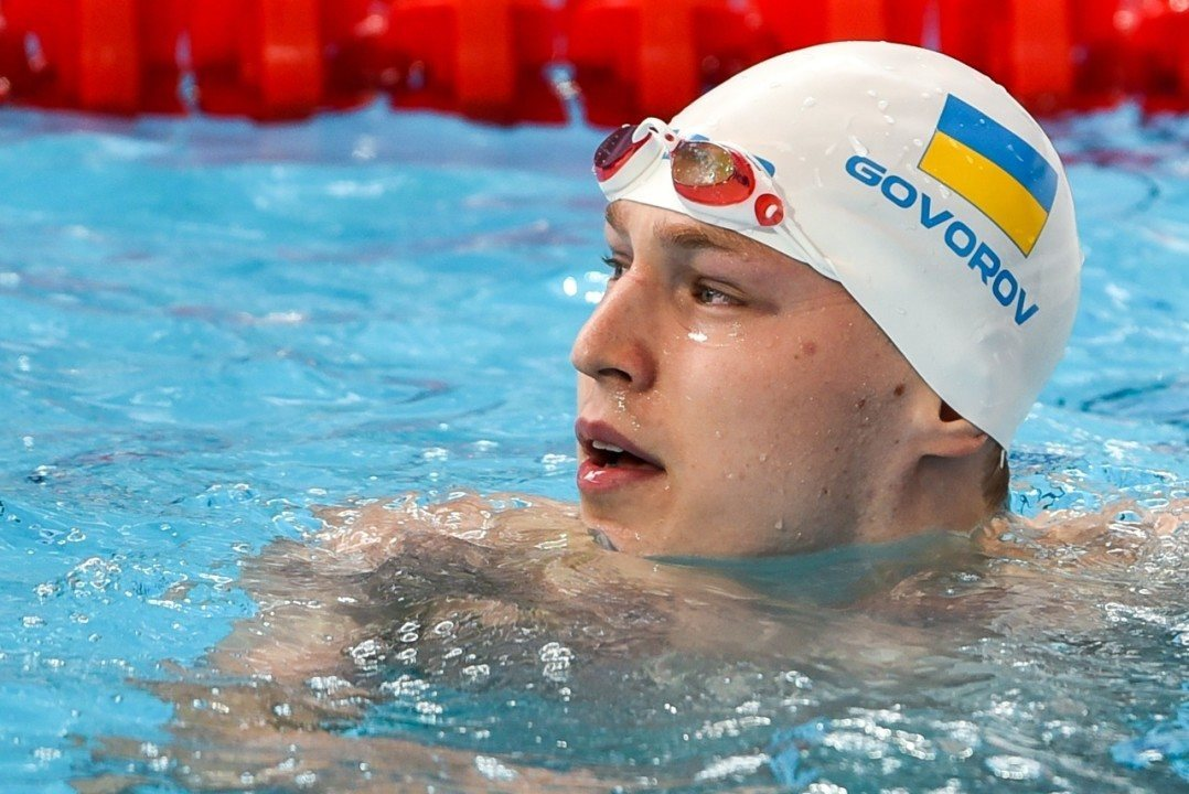 Andry Govorov Re-Breaks His Own Ukrainian National Record in 50 Free
