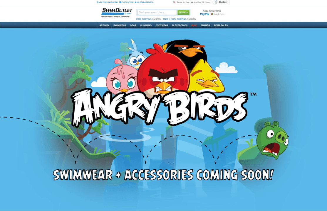 Angry Birds Line of Aquatics Products Launches Exclusively at SwimOutlet.com