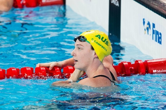 Cate Campbell (AUS) led women's 50m free semi-finalists with 24.22. 2015 FINA World Championships  (courtesy of Tim Binning, theswimpictures.com)