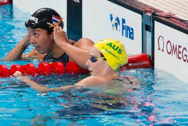 Cate Campbell (AUS) was n° 2 out of women's 100m freestyle semi-finals with 52.84. 2015 World Championships  (courtesy of Tim Binning, theswimpictures.com)