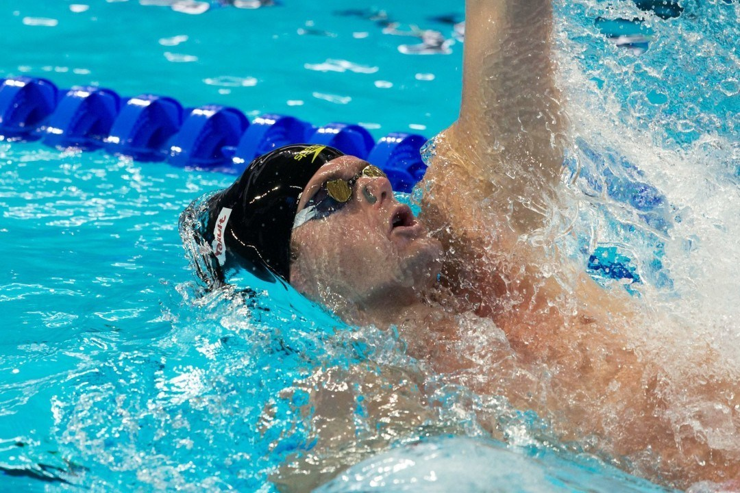 Olympic Champ Tyler Clary Scratches 200 Back At Austin Pro Swim