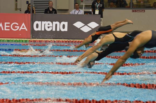 Tamsin Cook breaks 200 free meet record leading off Jr World Record-setting relay