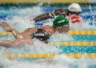 Chad La Clos in the prelims of the 100 fly at the 2015 FINA world championships Kazan Russia (photo: Mike Lewis, Ola Vista Photography)
