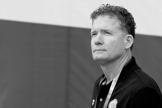 USA coach David Marsh at the 2015 FINA world championships Kazan Russia (photo: Mike Lewis, Ola Vista Photography)