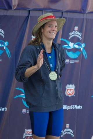 Amanda Weir, National Champion in women's 100m freestyle (courtesy of Rafael Domeyko)