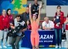 Yuliya Efimova, RUS. Women's 100 breaststroke World Champion. Day 3 of 2015 World Championships. (courtesy of Tim Binning, theswimpictures.com)