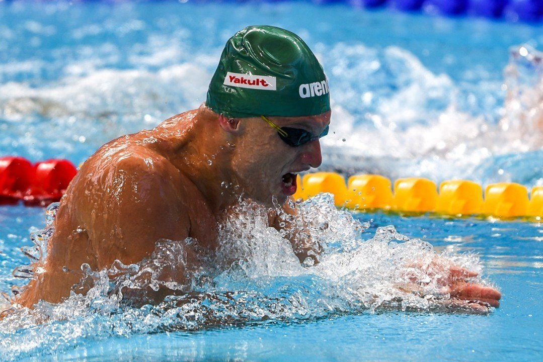 Titenis Destroys Lithuanian 100 Breast Mark at European SC Champs