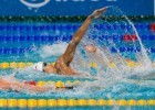 Japan's Ryosuke Irie looking strong in the men's 200m backstroke prelims, (courtesy of Tim Binning, theswimpictures.com)