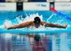 Joseph Schooling gin the semi finals  of the 100 fly at the 2015 FINA world championships Kazan Russia (photo: Mike Lewis, Ola Vista Photography)
