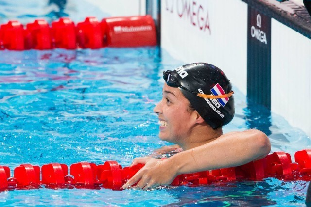 Ranomi Kromowidjojo (NED) qualified 2nd for women's 50m free final at 2015 FINA World Championships  (courtesy of Tim Binning, theswimpictures.com)