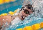 Katie Ledecky sets world record in 800 freestyle at the 2015 FINA world championships Kazan Russia (photo: Mike Lewis, Ola Vista Photography)