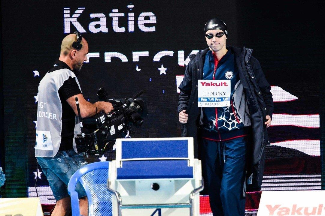 Katie Ledecky Earns FINA's Female Swimmer of the Meet