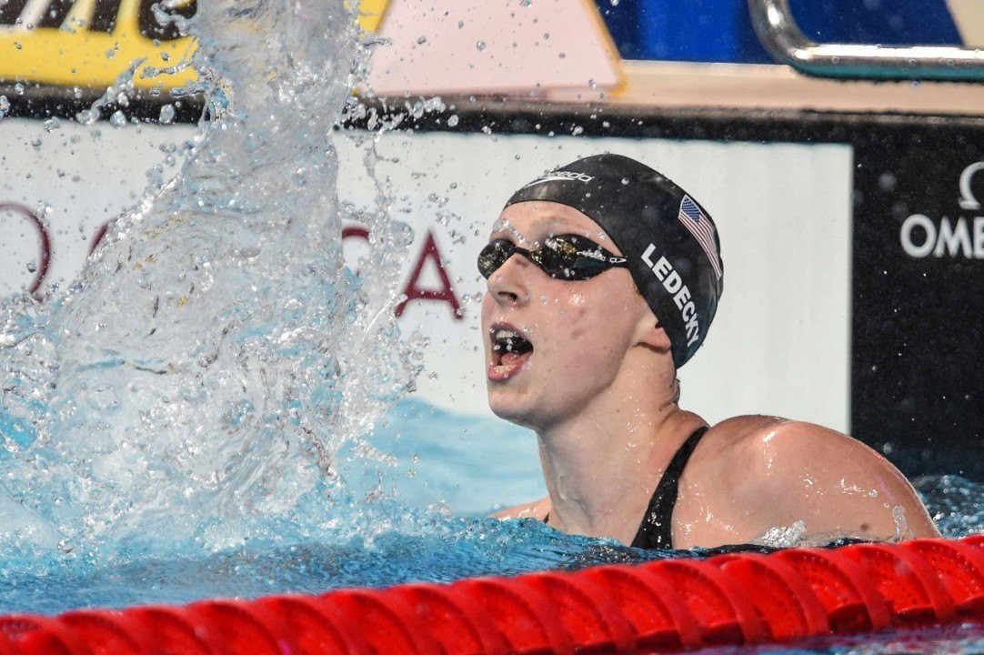 Watch Katie Ledecky Swim 8:59.65 in the 1000 Free – VIDEO