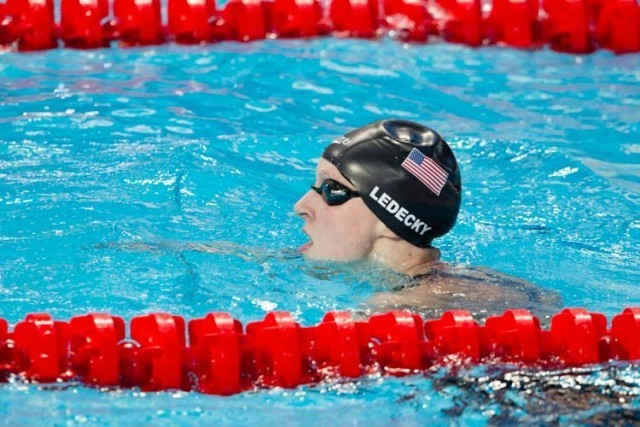 Katie Ledecky, 400m free, 2015 World Championships  (courtesy of Tim Binning, theswimpictures.com)