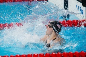 Katie Ledecky is World Champion in women's 800 free with new WR of 8:07.39. 2015 FINA World Championships (courtesy of Tim Binning, theswimpictures.com)