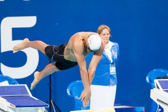 Florent MANAUDOU, 50 fly, 2015 World Championships  (courtesy of Tim Binning, theswimpictures.com)