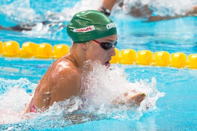 Ruta MEILUTYTE looking controlled in 100m breastroke heats 1.06.75, 2015 World Championships  (courtesy of Tim Binning, theswimpictures.com)