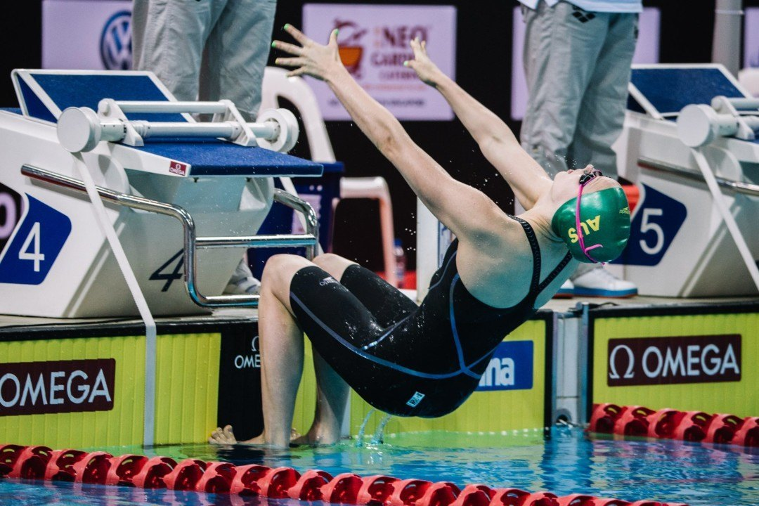 Minna Atherton Takes Sole Possession of 100 Back Junior World Record
