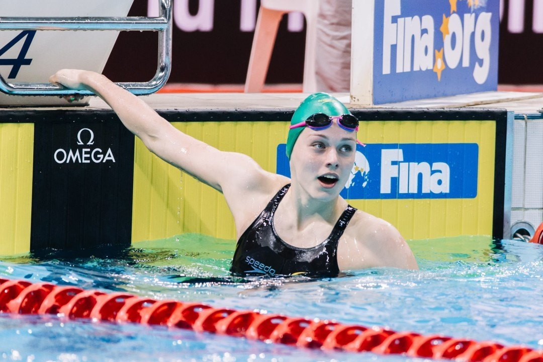 Minna Atherton Breaks Own Junior World Record with 59.34 100 Back