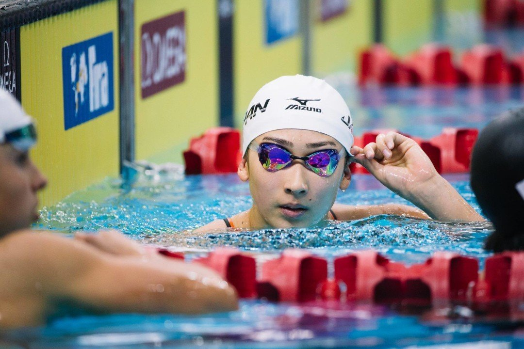 15 Year-Old Rikako Ikee Breaks Japanese Record in the 100 Freestyle