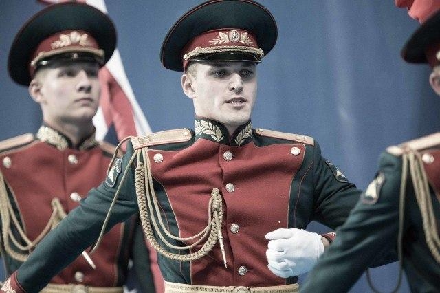 Russian cadets at award ceremony at the 2015 FINA world championships Kazan Russia (photo: Mike Lewis, Ola Vista Photography)
