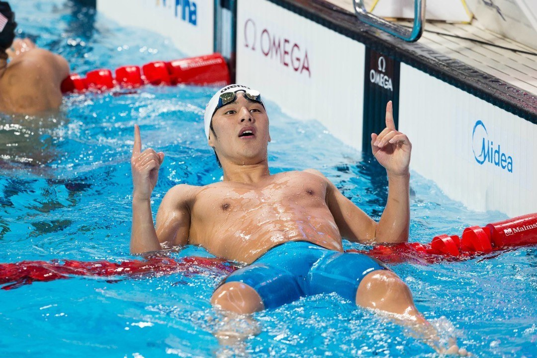 Seto Grabs Double Gold On Day 1 Of FINA World Cup In Doha