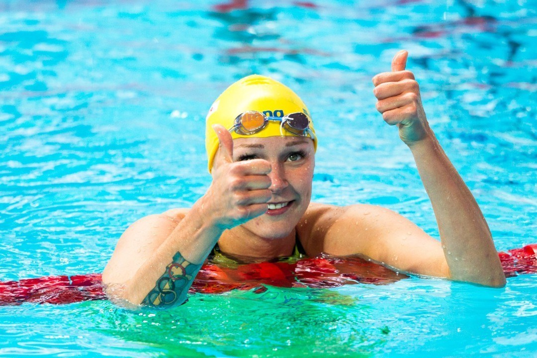 Sarah Sjostrom Leads Off Relay With Fourth Fastest 200 Free Ever