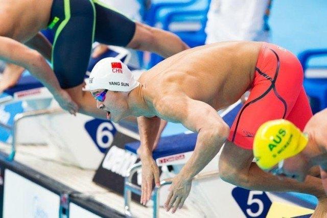 Sun Yanyg, 2015 World Championships  (courtesy of Tim Binning, theswimpictures.com)