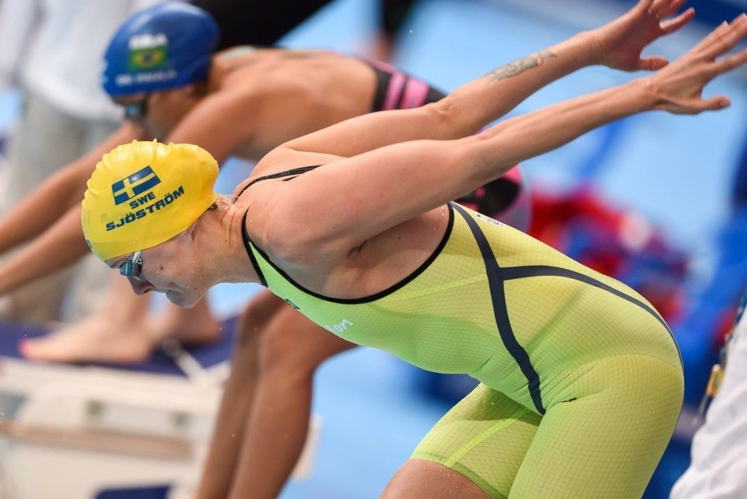 Sarah Sjostrom Downs National Record In 100m Freestyle