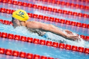Sarah Sjostrom sets world record #2 in the 100 fly at the 2015 FINA world championships Kazan Russia (photo: Mike Lewis, Ola Vista Photography)
