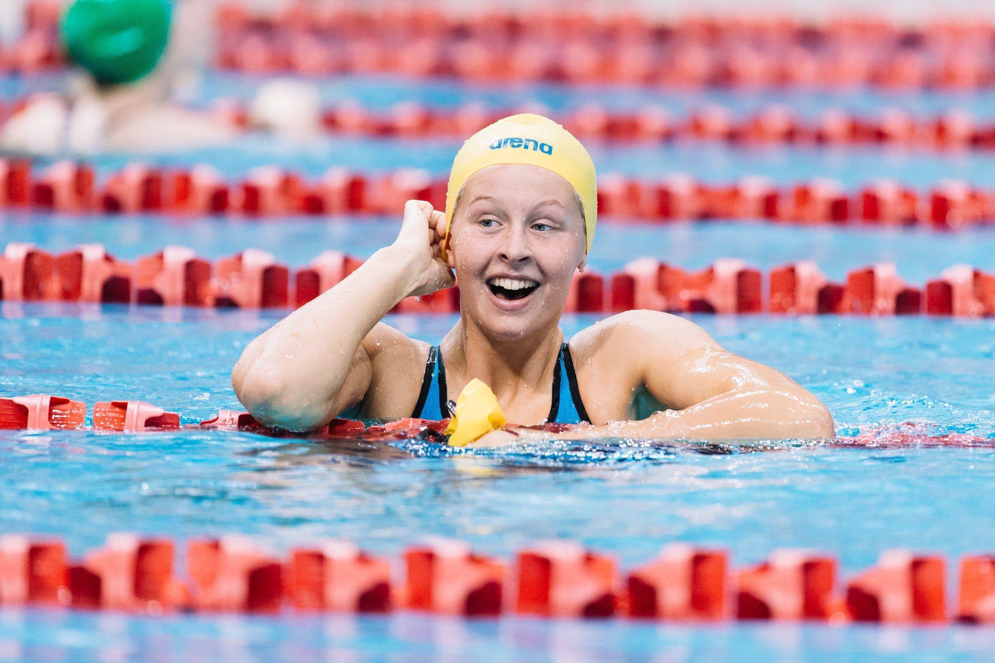 Sophie Hansson Hits 58.6 100 Breast at IU Invite Day 2 Prelims