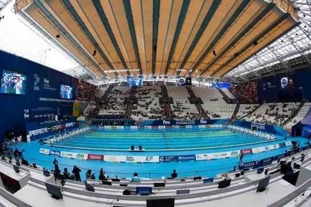 Kazan pool / venue, 2015 FINA World Championships (courtesy of Tim Binning, theswimpictures.com)