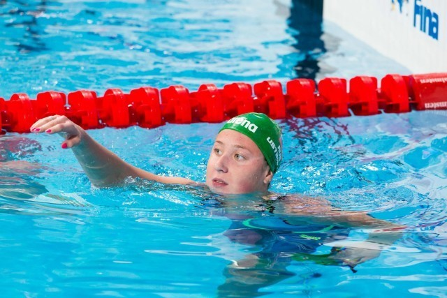 Daria Ustinova (RUS) finished 4th in women's 200m back final at 2015 FINA World Championships  (courtesy of Tim Binning, theswimpictures.com)