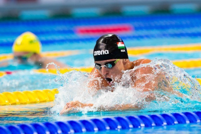 David Verraszto (HUN) qualified 2nd for the final of men's 400m IM at 2015 FINA World Championships  (courtesy of Tim Binning, theswimpictures.com)