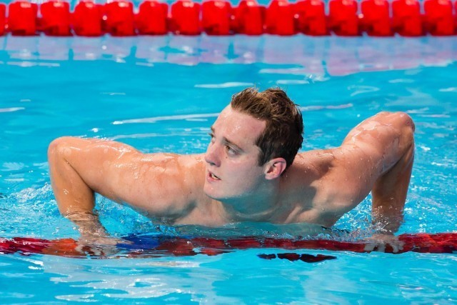 Andrew Willis (GBR) qualified for the men's 200m breaststroke final at 2015 World Championships  (courtesy of Tim Binning, theswimpictures.com)
