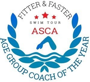 ASCA Age Group coach of the year award, 2014 image logo  (courtesy of Fitter and Faster)